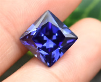 high quality. AAAAA+ 10x10mm SQUARE SHAPE BLUE TANZANITE UNHEATED LOOSE GEMSTONE