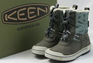 KEEN Toddler Girls Size 9 Kelsa Tall Waterproof Snow Boots Magnet/Chinois Green