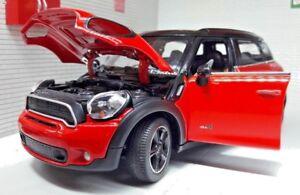 1:24 Scale Red BMW Mini Countryman All4 Cooper R60 2010 1.6 Rastar Model Car