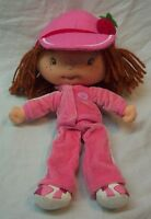 """CUTE STRAWBERRY SHORTCAKE IN PINK JOGGING SUIT 10"""" Plush STUFFED ANIMAL Toy"""