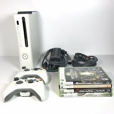 XBOX 360 20GB Console w/ 2 Controllers Power Supply  A/V Cables 4 Games | Tested