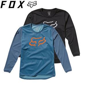 Fox Youth Ranger Long Sleeve Kids Jersey 2020 | Blue Steel, Black