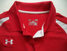 Womens UNDER ARMOUR Coors beer  polo shirt Sz L golf sports game performance