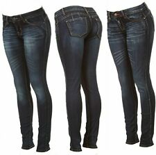 Cover Girl Women's Butt Lift Skinny Jeans Antique Dark Wash Junior or Plus Sizes