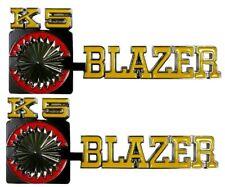 1975-1980 Chevy Blazer Truck Front Fender Emblem Pair Chevrolet K5