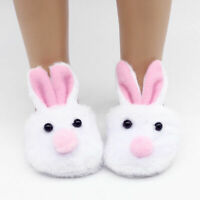 Fashion White Rabbit Shaped Doll Shoes Slipper For 18 Doll Inch C8M7