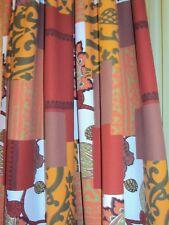 2 blickdichte Vorhänge Gardinen Deko Schal bunt Kräuselband B/H 140 x 245 cm
