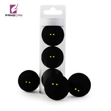 Fangcan 3Pc/Tube Super Slow Speed Rubber Double Yellow Dot Squash Ball
