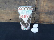 Vintage Inspired Galvanized Metal CHICKEN EGGS BUCKET VASE Farmhouse Decor NEW