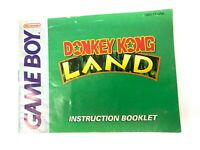 *Donkey Kong Land Nintendo Game Boy Instruction Booklet Manual Only
