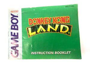Donkey Kong Land Nintendo Game Boy Instruction Booklet Manual