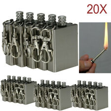 20 Survival Emergency Camping Fire Starter Permanent Metal Match Striker Lighter
