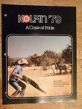 1979 KOLPIN RIFLE CASE CATALOG PISTOL GUN LEATHER CASES ARCHERY GLOVES VINTAGE