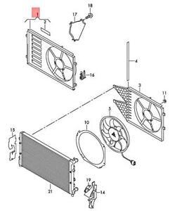 Genuine AUDI SKODA SEAT A1 Rapid Toledo 8XF 8XK NH1 NH3 KG3 Fan Ring 6C0121207