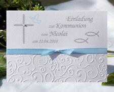 EINLADUNGSKARTEN Zur KOMMUNION KONFIRMATION Taufe   Personalisiert