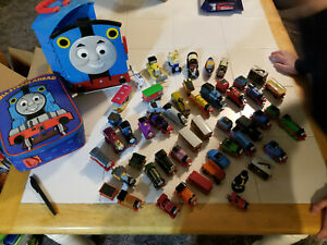 Thomas the Train lot of 52 cars plus 2 carrying cases