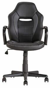 Argos Home Mid Back Gas Lift  Tilt Swivel Lock Office Gaming Chair - Black - E18
