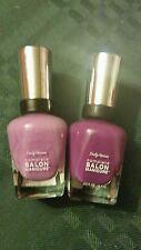 2 Sally Hansen Complete Salon Manicure Polish, 373 Grape Gatsby 840 Marooned
