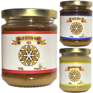 100% Pure Raw Honey Organic Natural Unprocessed Acacia English Wildflower