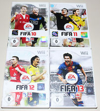 4 Nintendo Wii Jeux Collection-FIFA 10 11 12 13-Football Soccer 2017