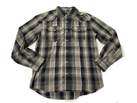 Levis Strauss Mens Plaid Button Up Shirt Long Sleeves Size Small Pearl Buttons