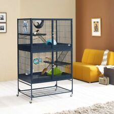 Rat Ferret Cage Den Small Pet Home Chipmunks Hutch Dual Level House Chinchilla