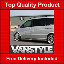 MERCEDES VITO VIANO 2004-14 76MM SIDE STEPS SIDE BARS STD & LONG STAINLESS STEEL