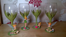 Disney Tinkerbell Fairy Figure Glitter Wine Glass Birthday gift Bridesmaid gift