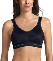 Anita 188297 Womens Vivana Active Medium Support Sports Bra Black Size 32C