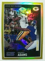 2020 Score Football Gold Zone SP #225 Davante Adams Green Bay Packers 49/50