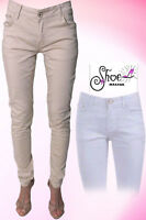 Skinny Womens Jeans Stretchy Jeggings Ladies New Fit Coloured Trousers Size6-14