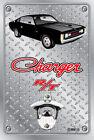 Pop A Top Wall Mount Bottle Opener Metal Sign - Hemi RT Charger Black