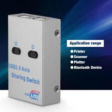 Mini 2 Ports USB Auto Share Sharing Switch Splitter Box Hub for Printer Scanner