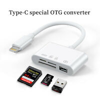Camera Reader Adapter to SD TF Card USB PD Converter For iPhone11/XS/XR/8 iPad