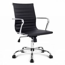 NEW High Back Eames Replica PU Leather Executive Computer Office Chair - Black