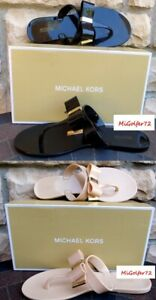 Michael Kors New in Box Kayden Jelly Thong Sandal w/Bow - Choose Size and Color