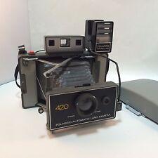 Polaroid 420 Automatic Land Camera with Focused Flash Attachment