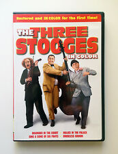 THE THREE STOOGES IN COLOR on DVD: Four Episodes Restored in Color — EXCELLENT!