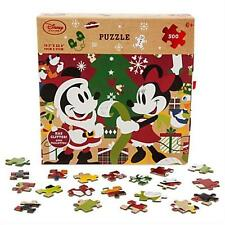 ORIGINAL DISNEY PARKS MICKEY MOUSE AND FRIENDS HOLIDAY GLITTER PUZZLE 500 PCS