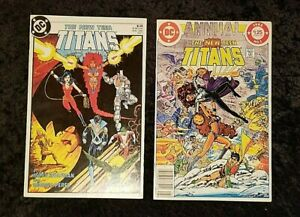 The New Teen Titans #1 & Annual #1 DC Comics 1984 (lot of 2) VF+