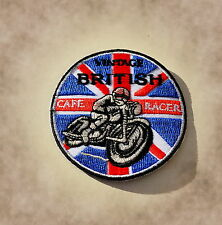 Patch,Aufnäher,Badge,Cafe Racer,England,BSA,Norton,Triumph,Vintage