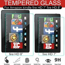 """Clear HD 7"""" Inch 8"""" Inch Tempered Glass Screen Protector For Amazon Kindle Fire"""