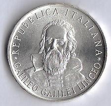 MONETA ITALIA LIRE 500 ARGENTO SILVER GALILEO GALILEI 1982 FDC UNC in capsula