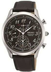 Seiko Gents Perpetual Calendar Watch SPC255P1 NEW