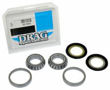 "1"" Fork Neck Post Stem Bearing Race Dust Seals Set Harley OEM 48300-60 48315-60"