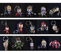 The Avengers Endgame Spiderman Iron Man Hulk Thanos Cosbaby Figure Keychain Toys