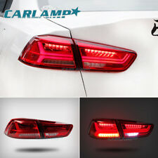 Red Audi Look LED Tail Lights For Mitsubishi Lancer / EVO X 2008-2017 Rear Lamp