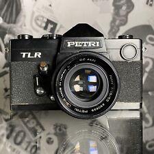 Vintage Petri TLR w/ Petri 55mm f1.8 Lens 35mm Film SLR Camera Working Order!
