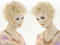 Short Wavy Curly Blonde Brunette Red Grey Wigs