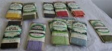 Vintage 16 Assorted Colors Stretch Lace 1 3/4 Inch Wide NIP